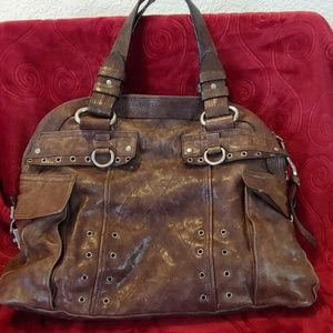 AUTHENTIC JUICY COUTURE BROWN LEATHER HOBO BAG